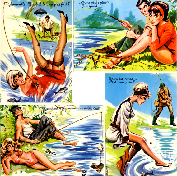Sexy nude island girl pin up postcard hawaii guam toplesscatch of the day